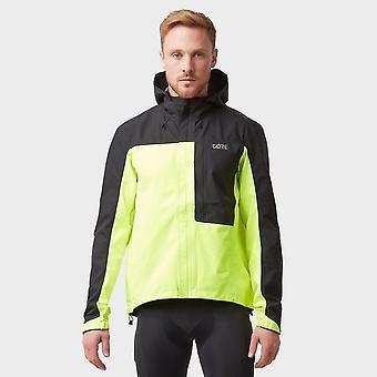 Gore Men's C3 Gore-Tex Paclite Hooded Waterproof Jacket Yellow
