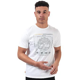 Men's Timberland Brand Carrier T-Shirt in wit