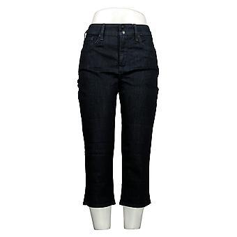NYDJ Women's Petite Jeans Cool Embrace Skinny Crop Side Slit Blue A377693