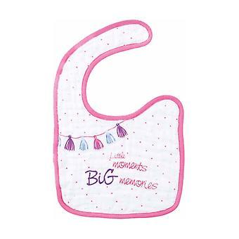 Pink Chiffon Bib - 0m + 1 unit