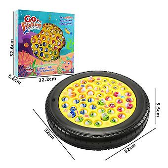 Electric Rotating Fishing Play Game Musical Fish Plate Set