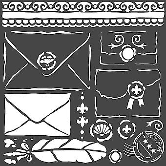 Stamperia Thick Stencil 18x18cm Letters
