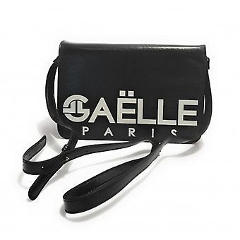Gaëlle Women's Bag Black Ecolea leather shoulder strap With Logo B21ge08