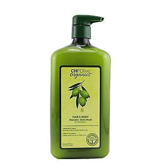 CHI Olive Organics Hair & Body Shampoo Body Wash (For Hair and Skin) 710ml/24oz
