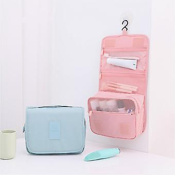 Travel Makeup Bag Hangable Women's Cosmetic Bag Toiletries Makeup Brush Tools Organizer for Cosmetics