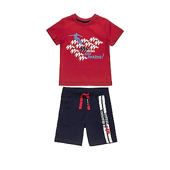 Alouette Boys' T-Shirt Set With Print And Shorts With Lace
