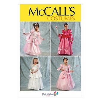 McCalls naaipatronen 6897 meisjes kinderen prinses jurk kostuum maat 6-8