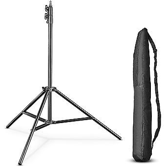 HanFei pro FT-8051 Lampenstativ 260cm - Lichtstativ mit Federdmpfung, Hhe max 260 cm, 5 kg Traglast,