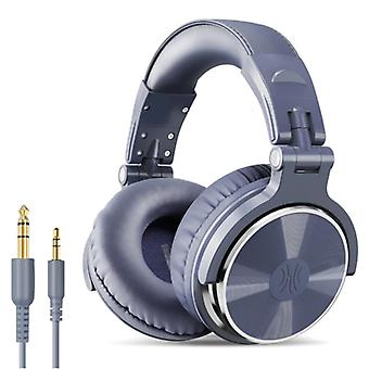 """אוזניות OneOdio Studio עם חיבור AUX בגודל 6.35 מ""""מ ו-3.5 מ""""מ - אוזניות עם אוזניות DJ מיקרופון סגולות"""