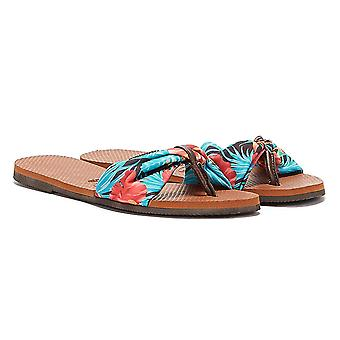 Havaianas You Saint Tropez Womens Brown / Multi Flip Flops