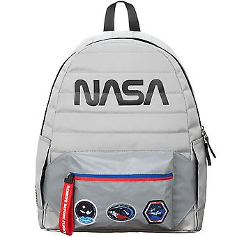 NASA Reflective Fanny Pack Backpack with Patches