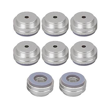 8Pcs Silver Speaker Spike Pad Amplifier Isolation Stand Pads 19.5x11mm