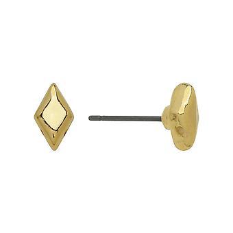 Cymbal øredobb innlegg for GemDuo perler, Provatas, Diamond 8x5mm, 1 par, 24k gullbelagt