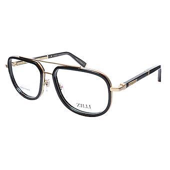 ZILLI glasögon Ram Titanacetat Svart Guld Frankrike Tillverkad ZI 60021 C01