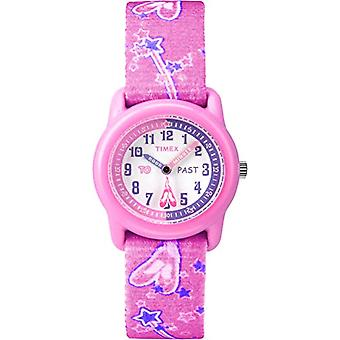 Timex T7B151 Analog Wristwatch, Unisex Children, Multicolored (White/Pink)(2)