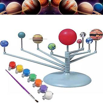 Solar System Nine Planets Planetarium Model Kit Astronomy Science Project DIY Kids Gift Early Education For Child