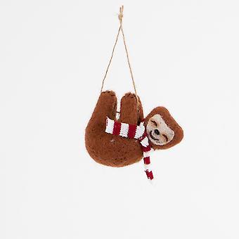 Sass & Belle Swinging Luiaard met sjaal hangende decoratie