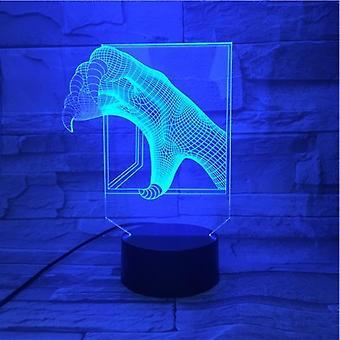 Dinosaur Claws 3d Led Night Light Kids Bedroom Table Lamp
