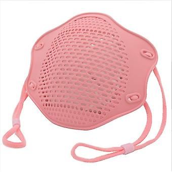 5Kpl vaaleanpunainen kn95 suoja maski elintarvikelaatuinen silikoni naamio viisikerroksinen suodatin pölysuojamaski az10904