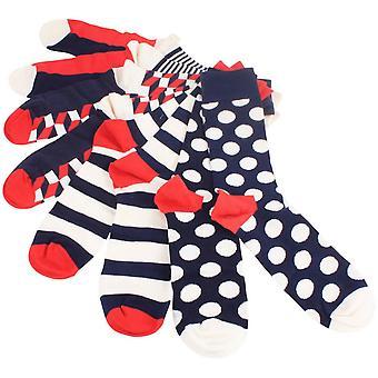 Happy Socks Big Dot strumpor gåva Pack - kräm/röd/blå