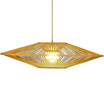 Fine Asianliving Bamboo Light Lampdant Lampshade Handmade - Scarlet D60cm