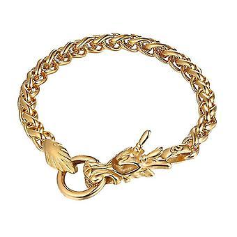 U7 bracelet of a Chinese dragon-gold