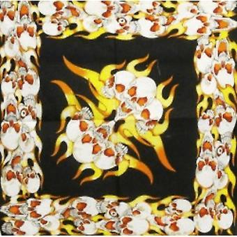 Bandana - Flames och Dödskallar