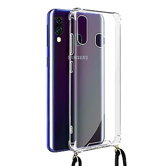 Cover Lanyard for Samsung Galaxy A40 Flexible Neck Strap Clear