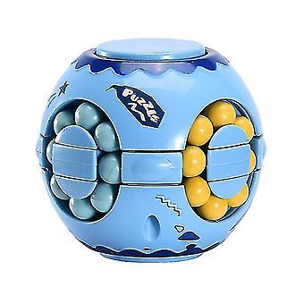 Finger Magic Bean Burger Cubo Rubik's Cube, Children's Intelligence Gyro Fingertip Spin cube (Azul)