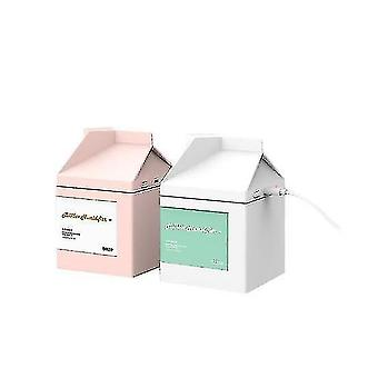 Usb Children's Air Purification Humidification Milk Box Home Office Humidifier(PINK)