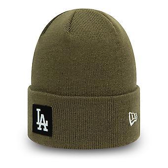 New Era Winter Beanie - CUFF Los Angeles Dodgers olive
