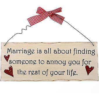 Het huwelijk is alles over het hangen van teken