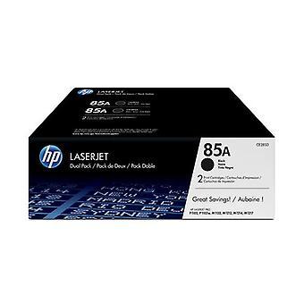 HP 85A Black LaserJet Toner Cartridge, Original, 2-Pack, 1600 Pages, Black, 2 Pieces