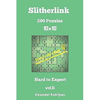 Puzzle dla Brain Slitherlink - 200 Hard to Expert 10x10 Vol.6