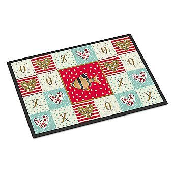 Door mats carolines treasures ck5499mat tiger barb love indoor or outdoor mat 18x27
