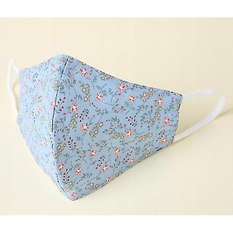 Dust masks the adult mask fabric can be washed  reusable and adjustable  with a filter bag flower white 10pac