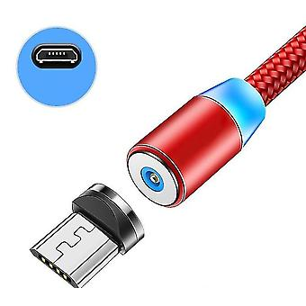 Lighting 2.4a Fast Charge Micro Magnetic Cable(Red For Micro)