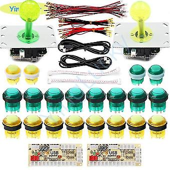 2 Hráči joysticks kit s led arkádovým joystickem 5v led tlačítka usb kód ovládací deska pro hru