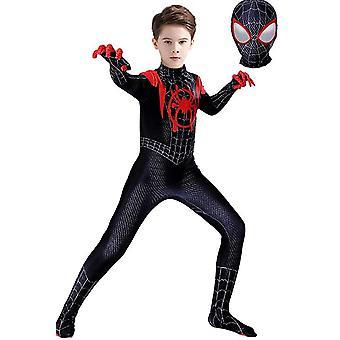 Kids Miles Morales Costume Spiderman Cosplay Jumpsuit Halloween Cosplay Suit