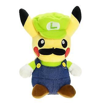 20cm Pokemon Cartoon Pikachu Cosplay Super Mario Bros Luigi Plush Toy Soft Stuffed Cute Animals Doll Birthday Gifts For Children