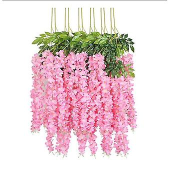 12 Piece 3.6' Artificial Silk Wisteria Vine Ratta Hanging Flower Garland String Home Party Wedding