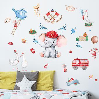 Firehouse Adventure Adesivi da parete Decalcomanie Home Sfondo Pasta decorativa