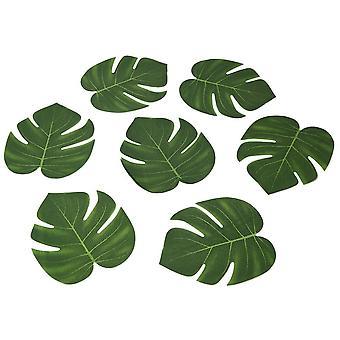 12pcs Artificial Tropical Palm Leaves Faux Palm Leaves For Hawaiian Luau Safari Jungle Beach Theme Party Wedding Decoration, 20 X 18cm
