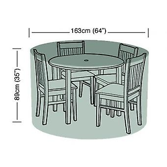 4 Seater Round Furniture Set Cover Waterproof Polyethylene