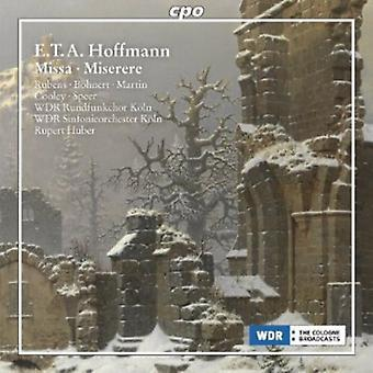 Hoffmann - Hoffmann: Importación los E.e.u.u. Missa Miserere [CD]