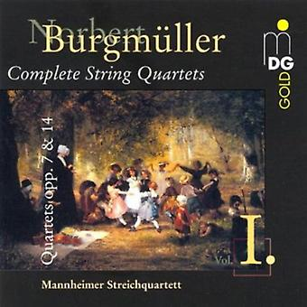 N. Burgmuller - Norbert Burgm Ller: String Quartets Opp. 7 & 14 [CD] USA import