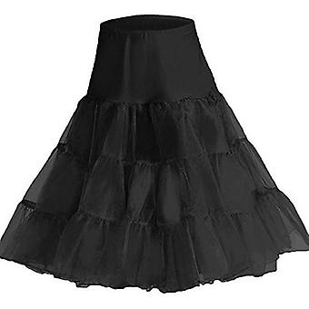 "50's Vintage Rockabilly Petticoat Skirt, 18"" Short / 26"" Knee Length"