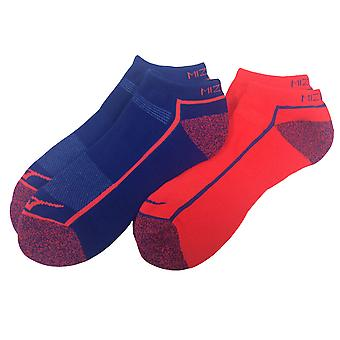 MIZUNO aktives Training Mitte Socken [Königsblau/Coral] [2er-Pack]