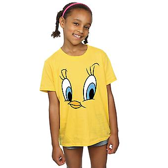 Looney Tunes Girls Tweety Pie Face T-Shirt