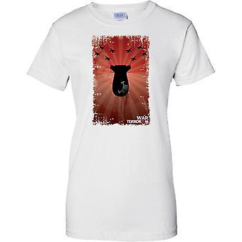 Guerra contra el Terror Pop Art Design - señoras T Shirt